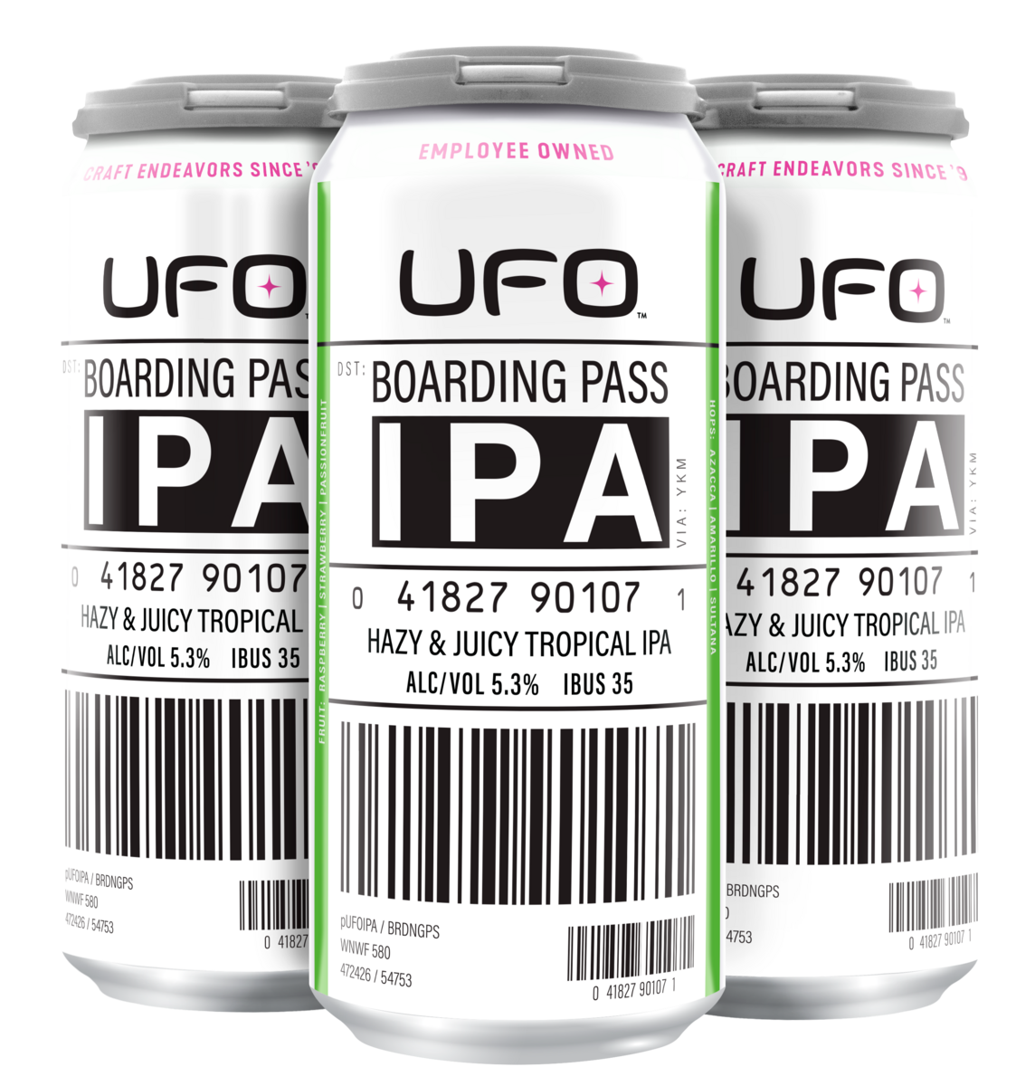 Boarding Pass IPA 16 oz can 4pack